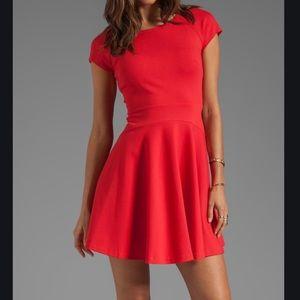 Diane Von Furstenberg Red Delyse Dress - 10
